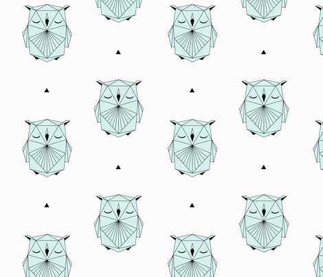 Origami Owl fabric by kimsa on Spoonflower - custom fabric