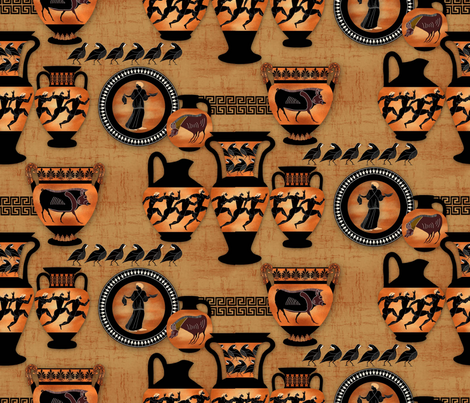 Greek Pottery fabric by j9design on Spoonflower - custom fabric