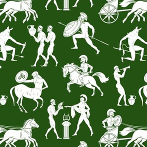 Greek Figures on Green // Small
