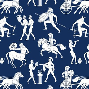 Greek Figures on Navy // Small