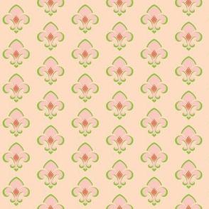 Fleur de Lis SMALL 133 -  peach