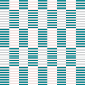 Pink, gray, teal stripes