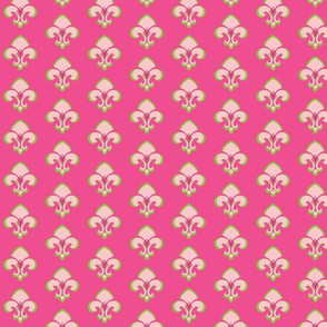 Fleur de Lis 233 - hot pink