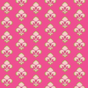 Fleur de Lis SMALL 133 - hot pink