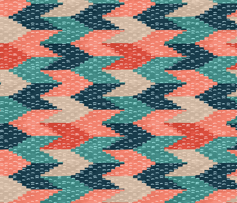 Kilim Weaving Structure Persian Green fabric by marketa_stengl on Spoonflower - custom fabric
