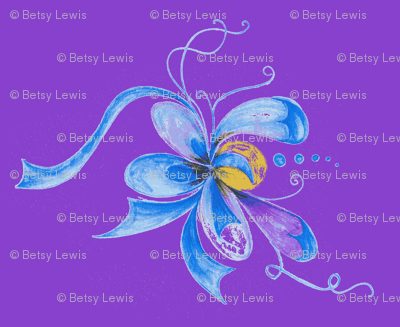 Whimsy Floral with Purple Background