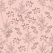 Stylized branches and berries