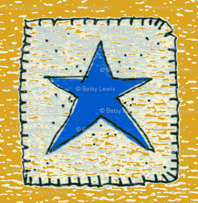 Blue Star 2 Gold Background