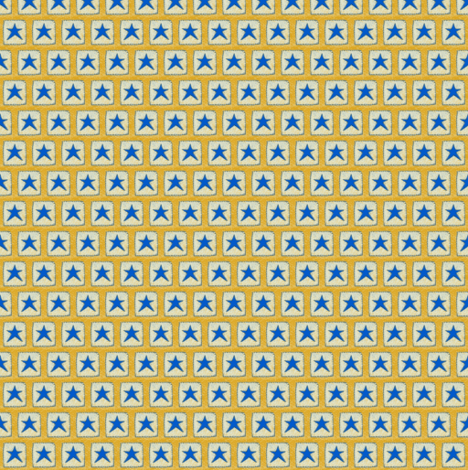 Blue Star 2 Gold Background fabric by betz on Spoonflower - custom fabric