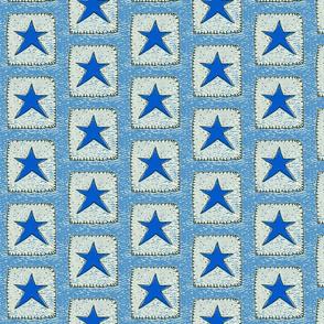Blue Stars Medium Blue Background
