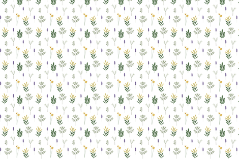 wild herbs fabric by janaotto on Spoonflower - custom fabric