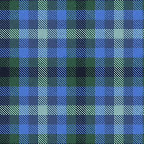 Custom Blue Green Plaid fabric by eclectic_house on Spoonflower - custom fabric