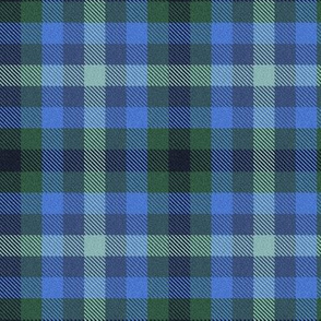 Custom Blue Green Plaid