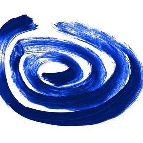 Blue and white Lima tea towel