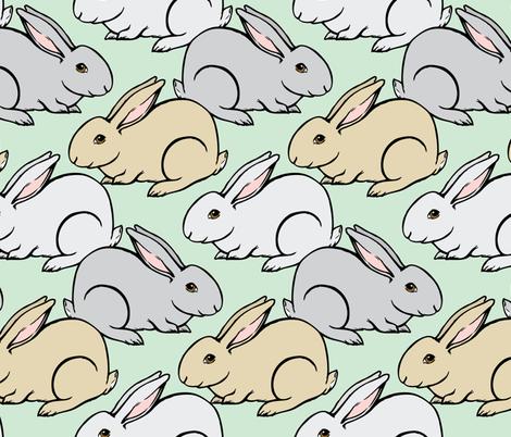 Bunnies Galore fabric by charladraws on Spoonflower - custom fabric