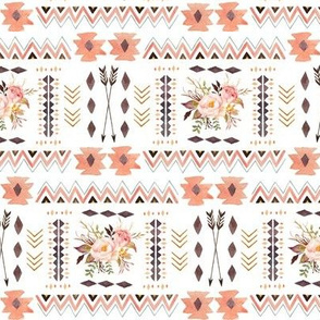 Boho Aztec Coordinate - Tribal Flowers Southwest Baby Girl Nursery GingerLous