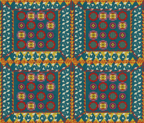kilim2 fabric by teal_feather on Spoonflower - custom fabric