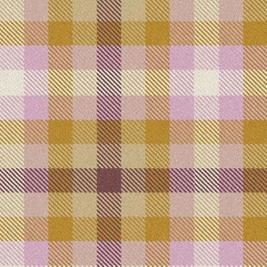 Pink Peach and Cream Plaid