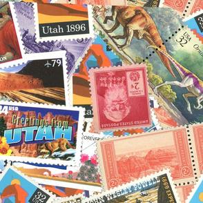 Utah Collage Stamps non merged