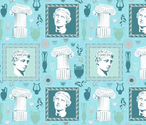 Ancient Greece Composition fabric by vannina on Spoonflower - custom fabric