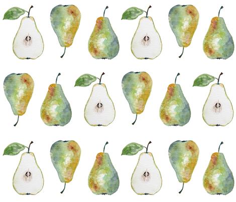 Pears fabric by chebplatt on Spoonflower - custom fabric