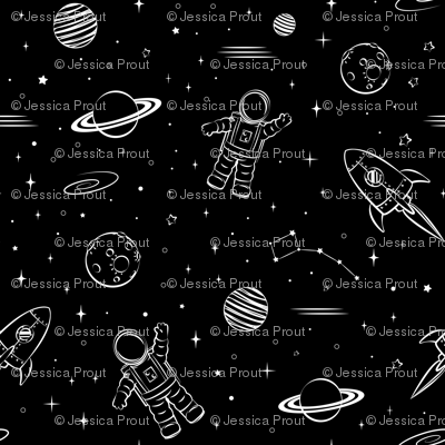 monochrome - space print (black)