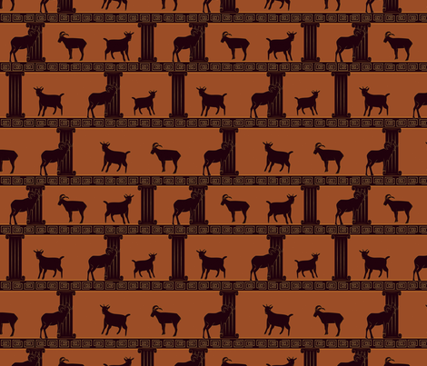 Greek Goats fabric by svaeth on Spoonflower - custom fabric