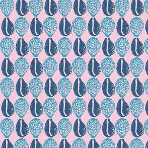 Pupu Hinuhinu - Blue on Pink