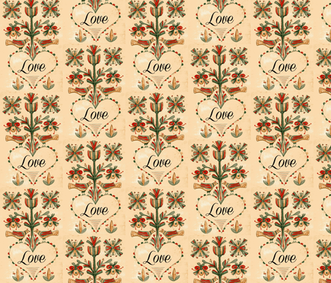Fractur Love  fabric by betz on Spoonflower - custom fabric