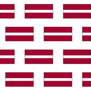 Latvian Flag // Small