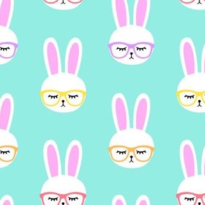 bunny with glasses (multi)