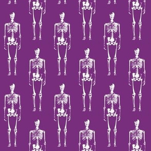 Skeletons on Purple // Small