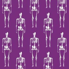Skeletons on Purple // Large