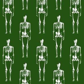 Skeletons on Green // Large