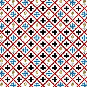Crosses and Wheat Checkered