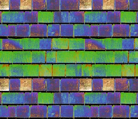Solar Shingles fabric by helen@klebesadel_com on Spoonflower - custom fabric