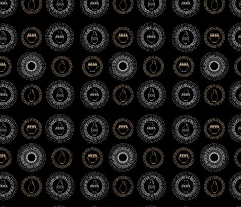 Greel vessels fabric by charcoalram on Spoonflower - custom fabric