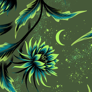 Queen of the Night - Green - Large Scale - Andrea Muller