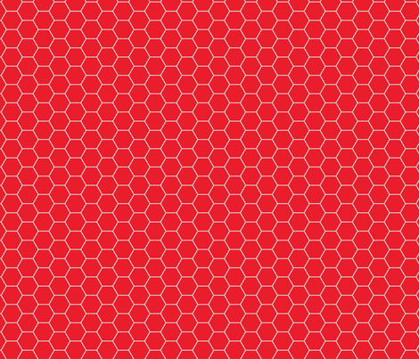 Red Hex fabric by jawjarrose on Spoonflower - custom fabric