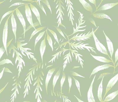 Brooklyn Forest - Pale Green - Large Scale