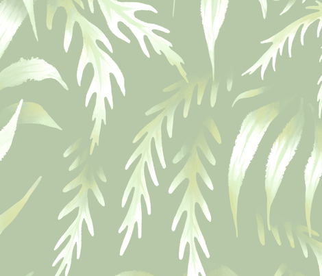Brooklyn Forest - Pale Green - Large Scale fabric by andreaalice on Spoonflower - custom fabric