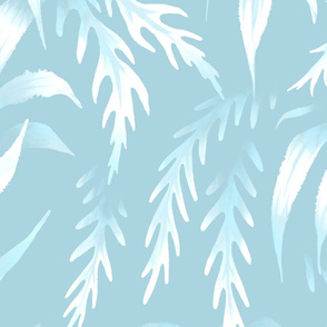 Brooklyn Forest - Eggshell Blue - Large Scale
