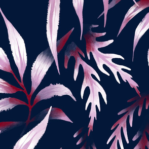 Brooklyn Forest - Orchid / Navy - Large Scale