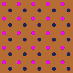 cognac Bubble dots