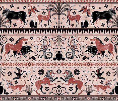 Greek Mythical Beasts fabric by melaniegowprint on Spoonflower - custom fabric