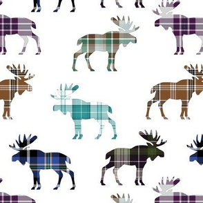 Plaid Moose III // Large