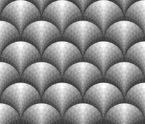 07165984 : scale triangles : silver metal fabric by sef on Spoonflower - custom fabric