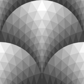 07165984 : scale triangles : silver metal