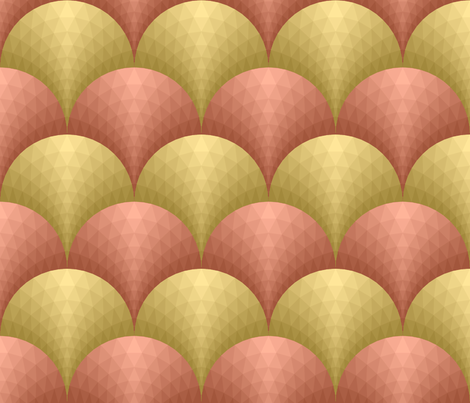 07165985 : scale-facet : gold + copper fabric by sef on Spoonflower - custom fabric