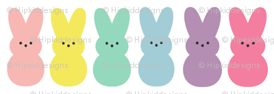Colorful Peep Bunnies // 1 ""
